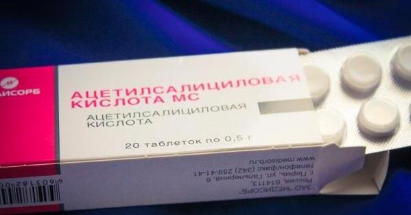 Ацетилсалициловая кислота от головной боли
