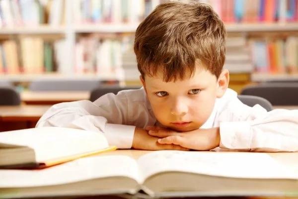 Мальчик не может выучить стих