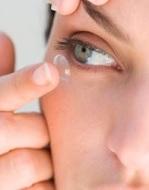 Голова от контактных линз