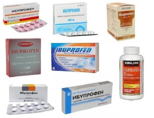 Ибупрофен применяют в таблетках
