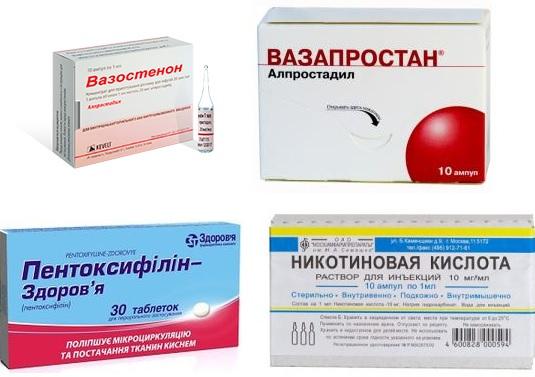 Препараты с вазодилатирующим действием